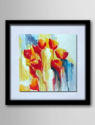 Oil Paintings One Panel Modern Abstract Flowers Hand-painted Canvas Ready to Hang