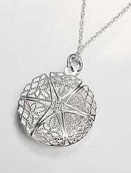 Modische Halsketten Medaillons Halsketten Schmuck Party / Alltag versilbert Silber 1 Stück Geschenk