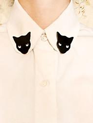Black Cat Brooch (1Pair)