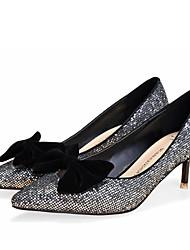 Women's Shoes  Kitten Heel Heels/Pointed Toe/Closed Toe Pumps/Heels Dress/Casual Black/Silver/Gold