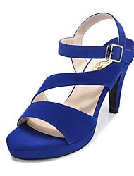 Women's Shoes Rubber Chunky Heel Heels Sandals Dress Black/Gold