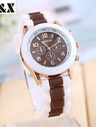 Women's Fashine Candy Color Quartz Analog Sillicon  Wrist Watch(Assorted Colors) Cool Watches Unique Watches