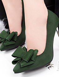 Women's Shoes Velvet Stiletto Heel Heels Pumps/Heels Party & Evening/Dress/Casual Black/Green/Red