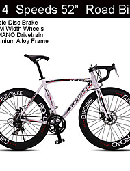 "14 Speeds 700C*23 Road Bike Eurobike™ 52"" Cycling Aluminium Alloy Double Disc Brake 70MM Width Wheels"