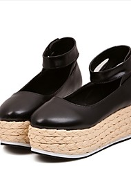 Women's Shoes Wedge Heel Wedges Boat Shoes Casual Black/White