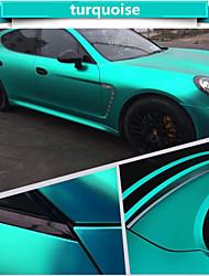 1.52 * 1m coche de vinilo polimérico cromo mate pvc envuelve el color cambiante pegatina etiqueta engomada del coche con los accesorios de