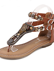 Women's Shoes Flat Heel Gladiator/Comfort/Open Toe Sandals Casual Black/Brown