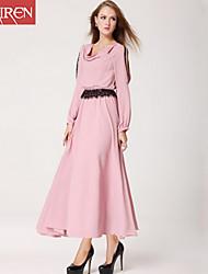 Muairen®Women'S Upscale Lace Waist Chiffon Dress