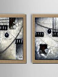 живопись маслом украшения абстрактная ручной росписью холст с натянутой в рамке - набор из 2
