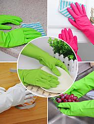 luvas de borracha látex de lavar cozinha longa prato limpeza da mão protege