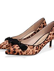 Women's Shoes Kitten Heel Heels/Pointed Toe/Closed Toe Heels Dress Black/Red/Silver/Gray/Animal Print