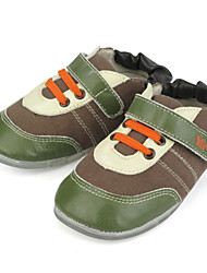 Baby Shoes Outdoor/Casual Suede/Canvas Fashion Sneakers toddlers trainers Brown/Yellow