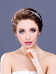 Women's / Flower Girl's Rhinestone / Alloy Headpiece-Wedding / Special Occasion Tiaras / Headbands 1 Piece Clear Round