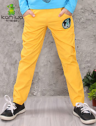 KAMIWA®Boy's All Seasons Yellow Cartoon Teenage Casual Pants Long Trousers Kids Clothes Children Clothing(Cotton)