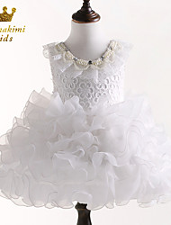 Girl White Grenadine Flower Girl Dress Baptism and Christening Dress