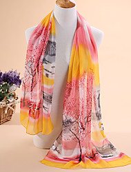 Ms new Chinese ink printed silk chiffon scarf