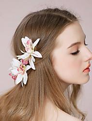 Women's Paper/Fabric Headpiece - Wedding/Outdoor Flowers 1 Piece