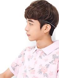 la mode des hommes et des perruques de cheveux bouffants fabricants hyper-réalistes nets de vente Vente en gros