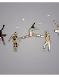 menina ballet espelho faça você mesmo adesivos de parede adesivos de arte