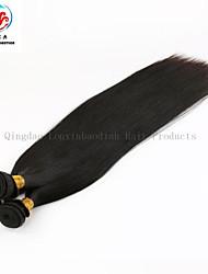 três pacotes cor natural em linha reta de alta qualidade por atacado preço de 100% remy indiano do cabelo humano tecer
