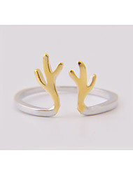 Cute/Party/Work/Casual Gold Plated/Sterling Silver Adjustable Ring