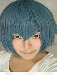 The New Cartoon Color Wig Smoke Blue Face  Short Straight Hair Wigs