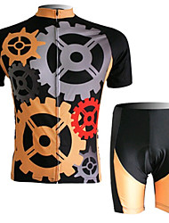 Short Sleeved Suit Riding Gear, Moisture Cycling Wear, Motor Function Material
