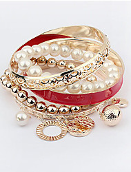 Masoo Women's Fashion Hot Selling High Quality Multi-layer Pearl Bracelet