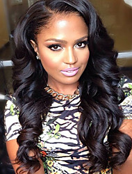 Human hair  lace wigs for  women Brazilian virgin hair Wavy human hair color(#1 #1B #2 #4)