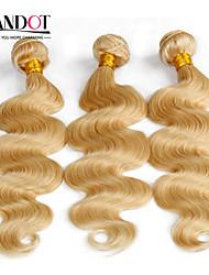 top lixívia 7a loira 613 extensão do cabelo virgem brasileiro do cabelo vingin corpo onda brasileiro do cabelo humano pacotes tecer cabelo