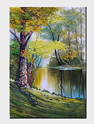 peintures à l'huile toile peinte à la main de paysage moderne un panneau prêt à accrocher