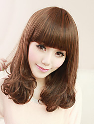 Japan and South Korea Fashion Light Brown Pear Volume of Long Hair Wig