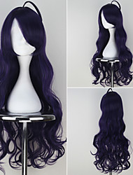 Seraph of the End Maru Ashura Synthetic Long Curly Dark Purple Color Anime Cosplay Wig