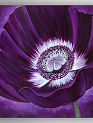 Oil Painting ModernRealism Purple Flower Painting Hand Painted Canvas with Stretched Framed Ready to Hang