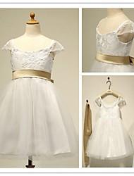 Flower Girl Dresses Short/Mini/Knee-length A-line Square Dress