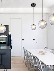 Modern Bubble Globe Colored Glass Pendant Light with One Light