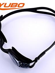YOBO Unisex Swimming Goggles Light Gray Anti-Fog/Waterproof/Adjustable Size/Anti-UV/Anti-slip Strap PC Silica Gel