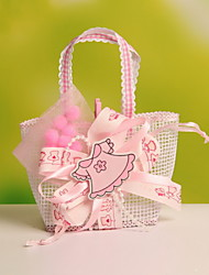 New!!!  Ribbon Decorative Wedding Candy Favor Bags Portable Favor Gift Bags Nonwoven Fabric Bag Set of 12