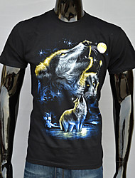Bedruckt Rund - Kurzarm - MEN - T-Shirts ( Baumwolle )