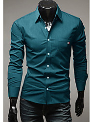 High-Quality Chinese Style Mens Shirts Fashion 2015 Long-Sleeve Shirt 4 Color