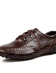 Chaussures Hommes Bureau & Travail/Décontracté Cuir Richelieu Noir/Marron/Orange