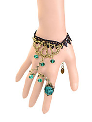 Vintage Vines Rose Bracelet With Ring