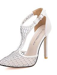 Scarpe Donna Similpelle A stiletto Tacchi/A punta Scarpe col tacco Formale/Serata e festa Nero/Bianco