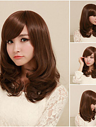 Japan and South Korea Fashion Girl Necessary Curly Brown Wig
