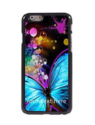 Personalized Gift Beautiful Butterfly Design Aluminum Hard Case for iPhone 6 Plus