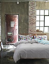 reina rey tamaño 4pcs 100% sistemas del lecho del algodón de la ropa de cama edredón cubre sábana de la cama de lino textil hogar