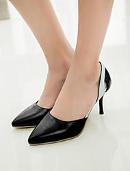 Zapatos de mujer Semicuero Tacón Stiletto Tacones Pumps/Tacones Oficina y Trabajo/Vestido Negro/Azul/Oro