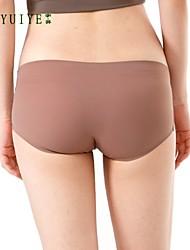 Culotte Sans couture/Sous-vêtements Moulants Vrai Cuir/Spandex Femme