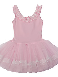 Ballet Dresses Children's Performance Cotton / Spandex  / Lace / Pattern/Print 1 Piece Pink / Yellow / Peach