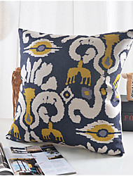 Elegant Flower Cotton/Linen Decorative Pillow Cover